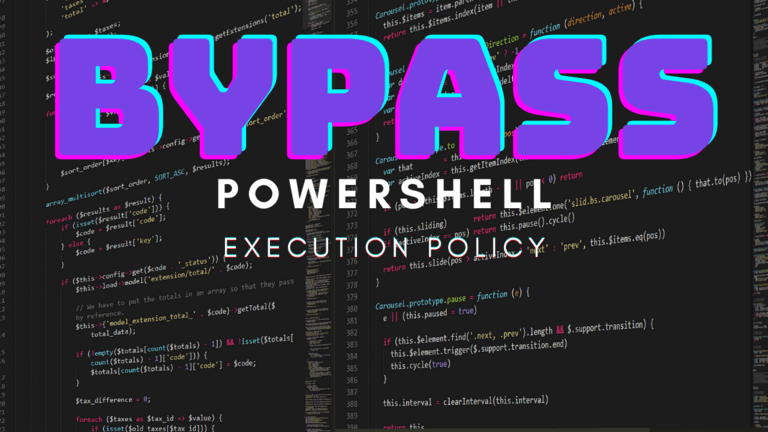Bypass Powershell Execution Policy