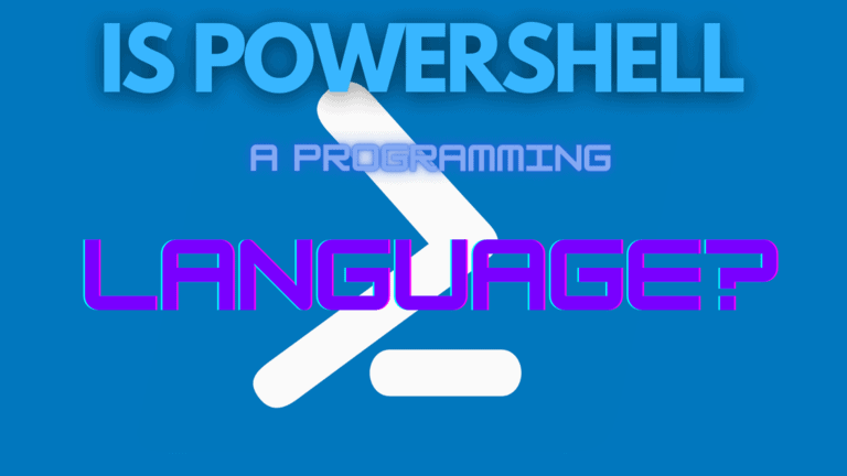 Is Powershell A Programming Language?