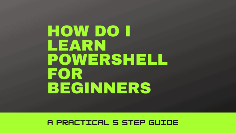 How do I learn Powershell for Beginners