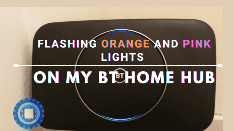 Flashing orange and pink lights on my BT Home Hub (What do they mean?)